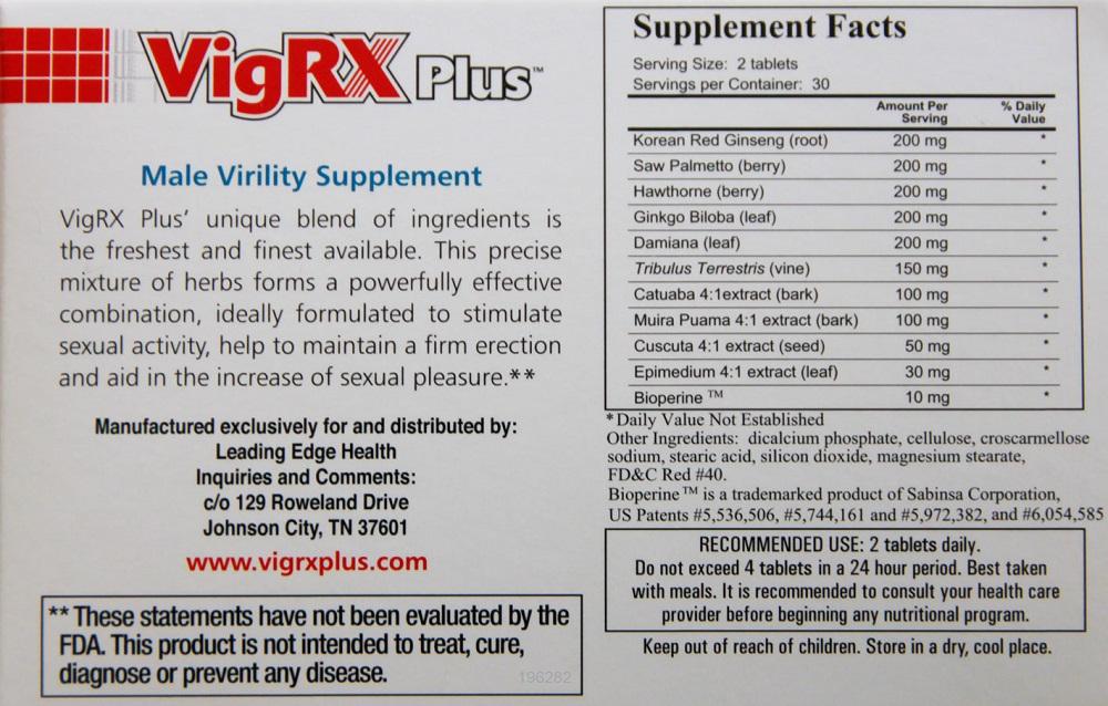 VigRX Plus Dosage Instructions